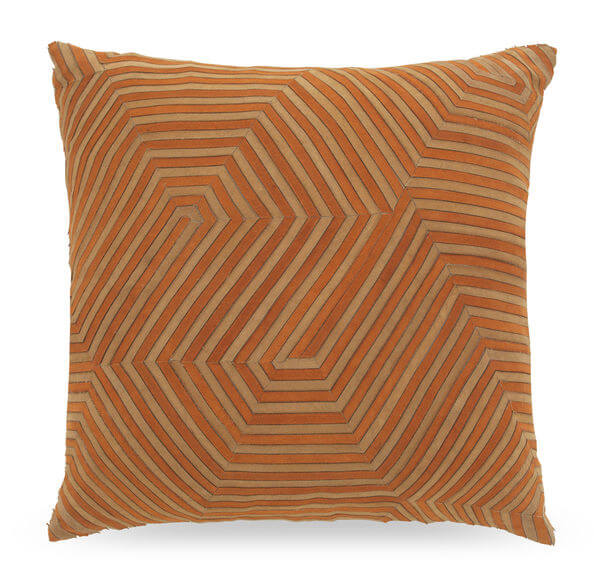 Citrouille Two Tone Suede Pillow