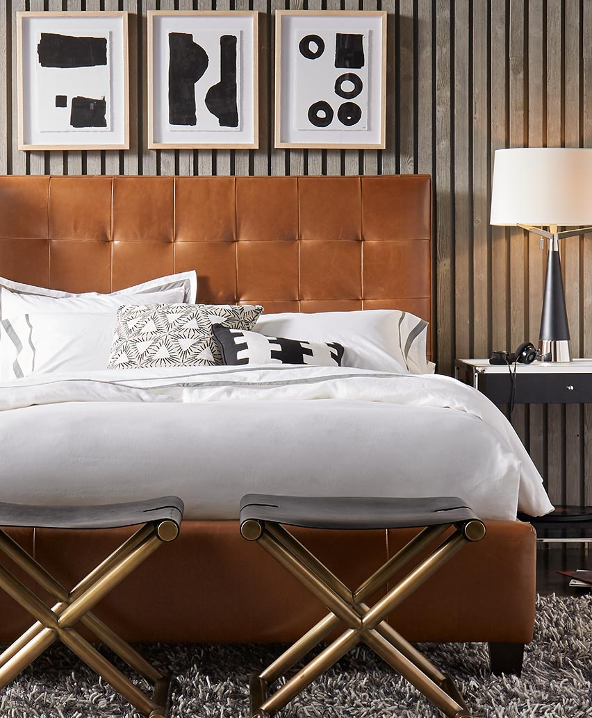 Butler Leather Bed