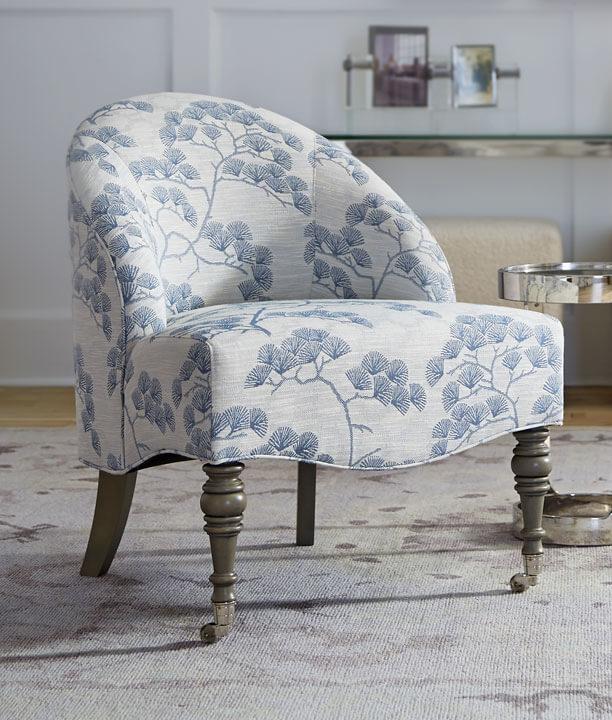 Mae Chair in Gingko-Azure