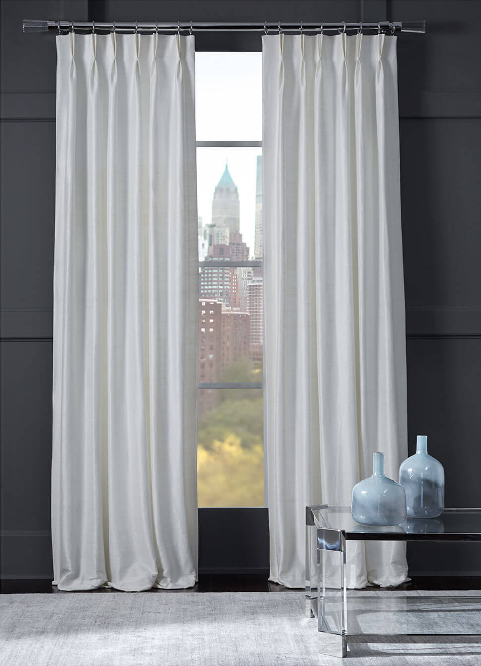 Legacy drapery collection: Woven Texture Strie
