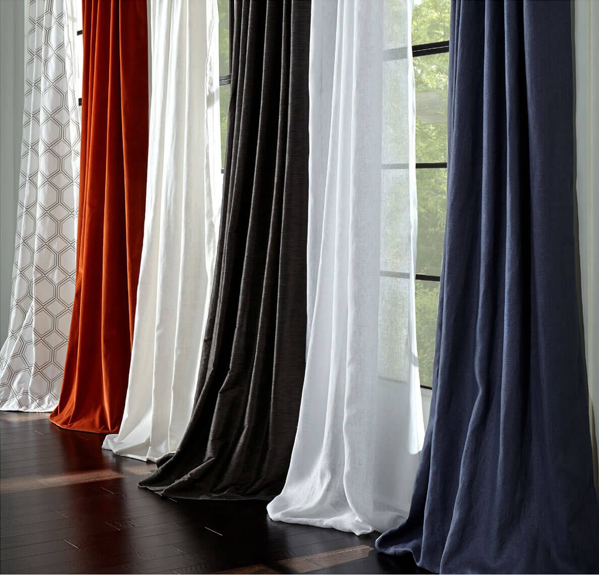 Our various drapery collection options