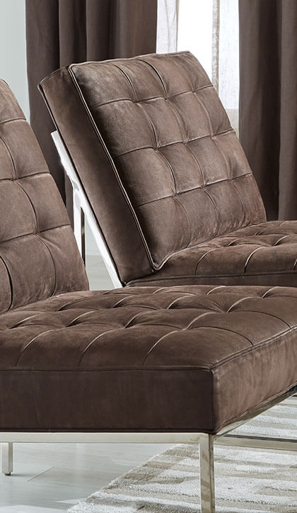 Nubuck leather chair