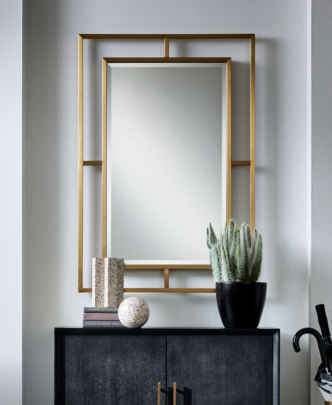 Astor Mirror in Brass