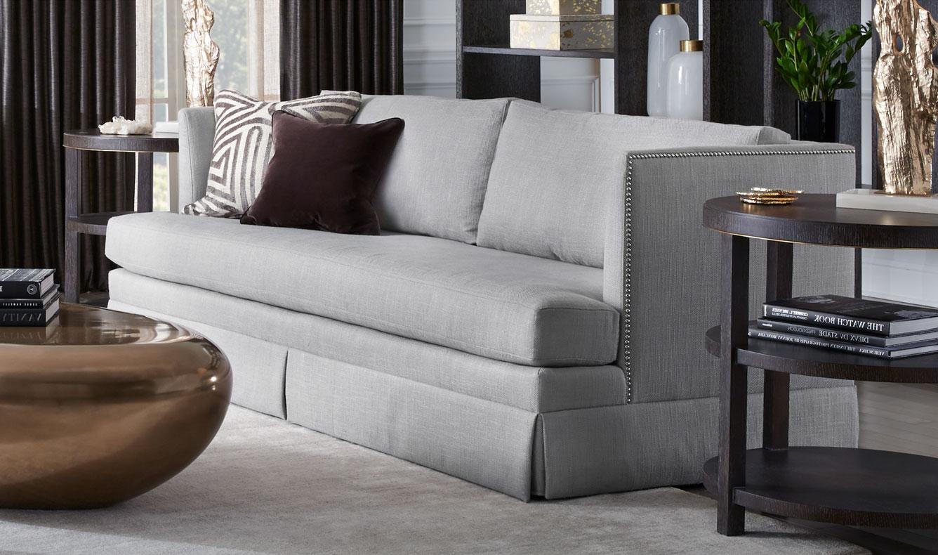 Skirted Nailhead Sofa