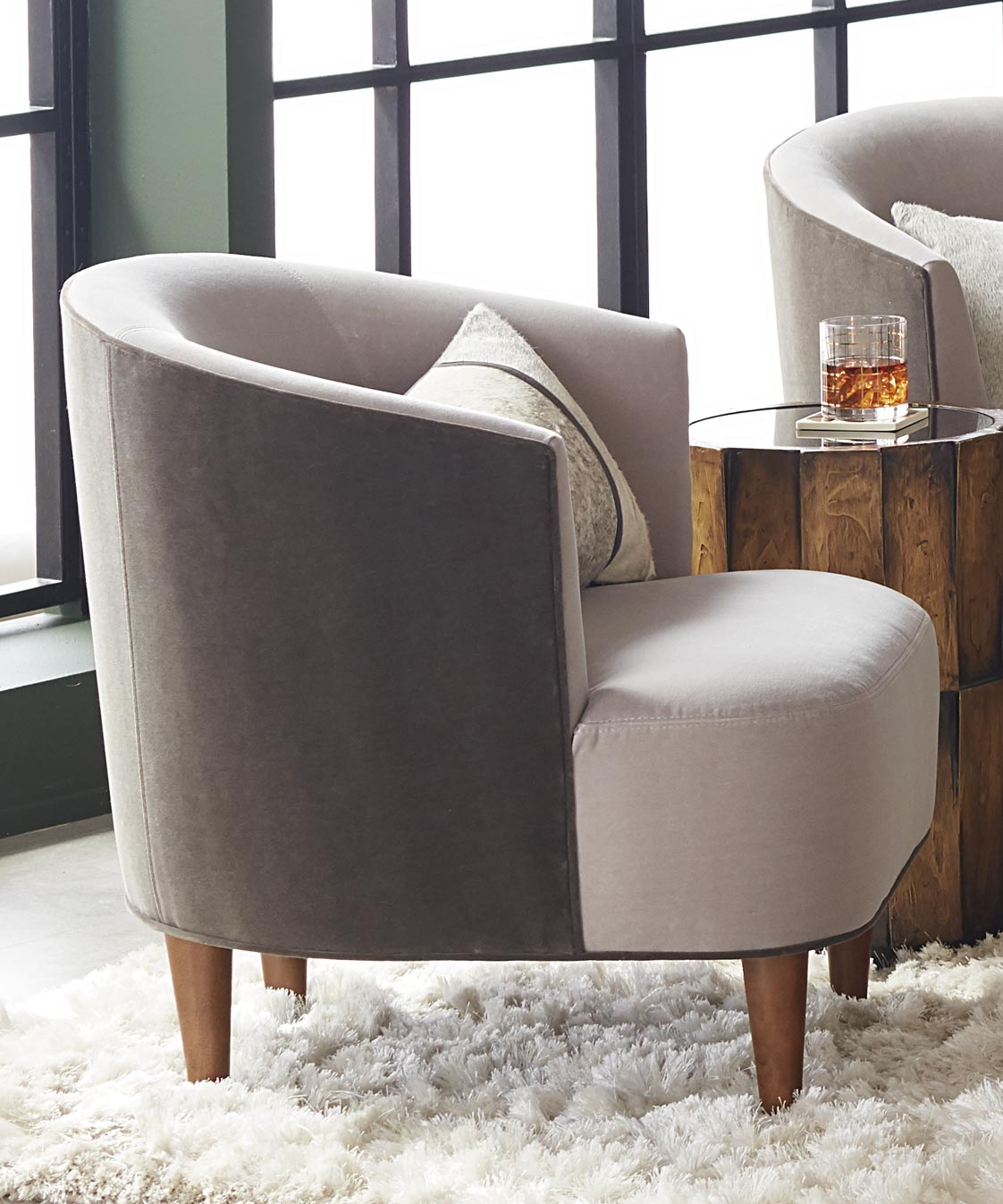 Ada Dining Chairs around Delaney Table