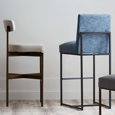 Fabric Counter & Bar Stools
