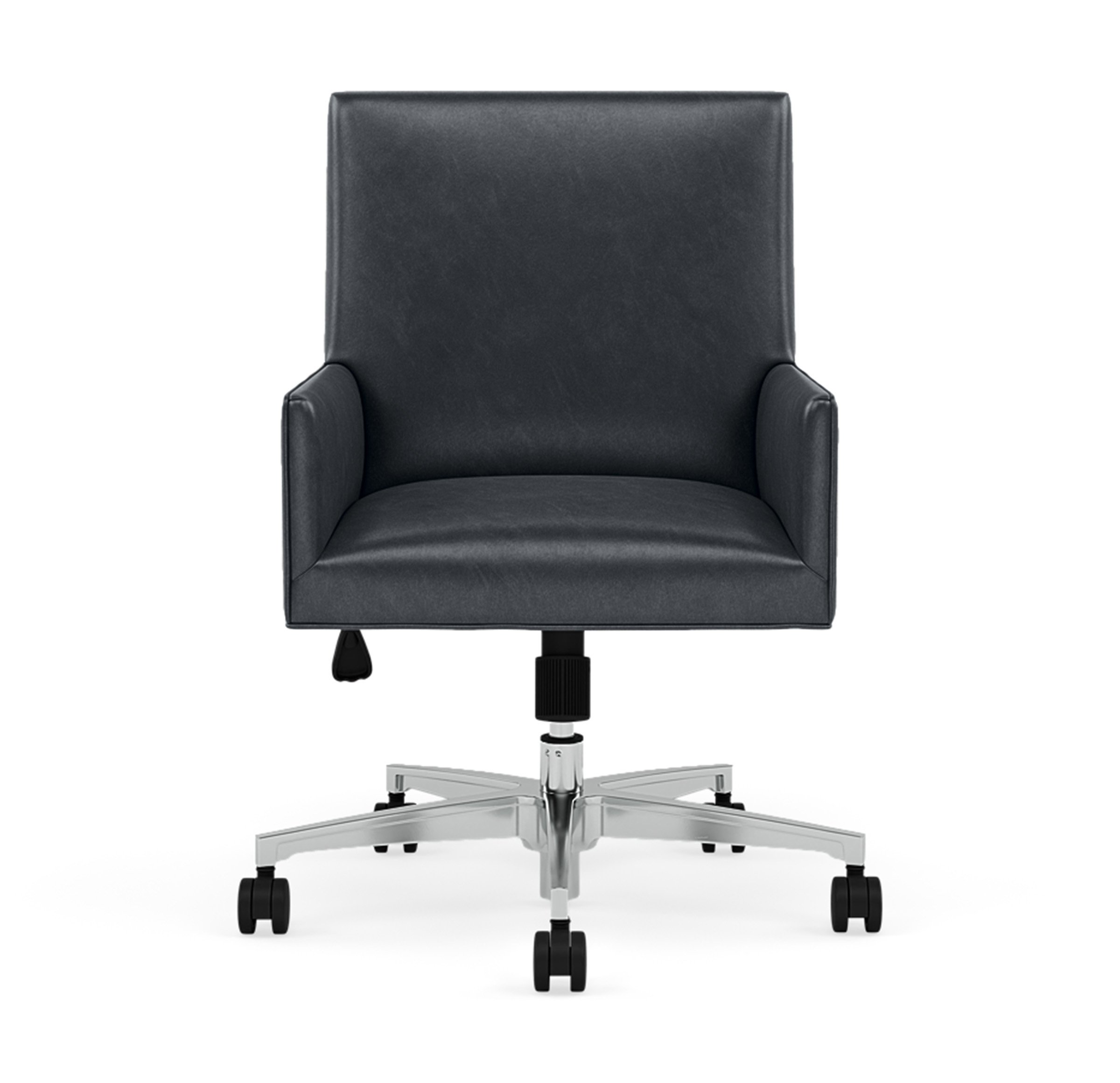 GAGE LEATHER DESK CHAIR, MONT BLANC - IRON, hi-res