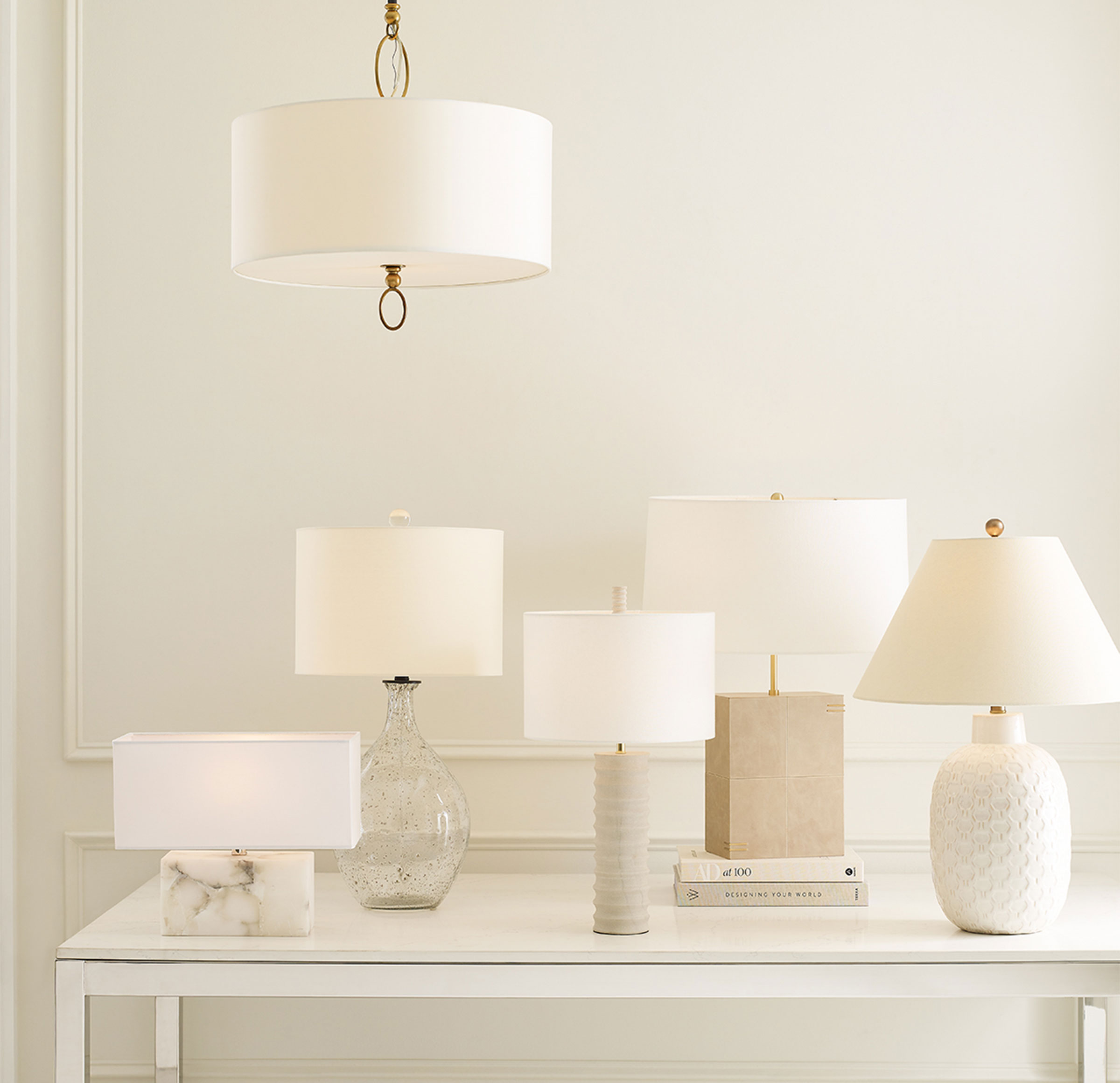 RIPPLE TABLE LAMP, , hi-res