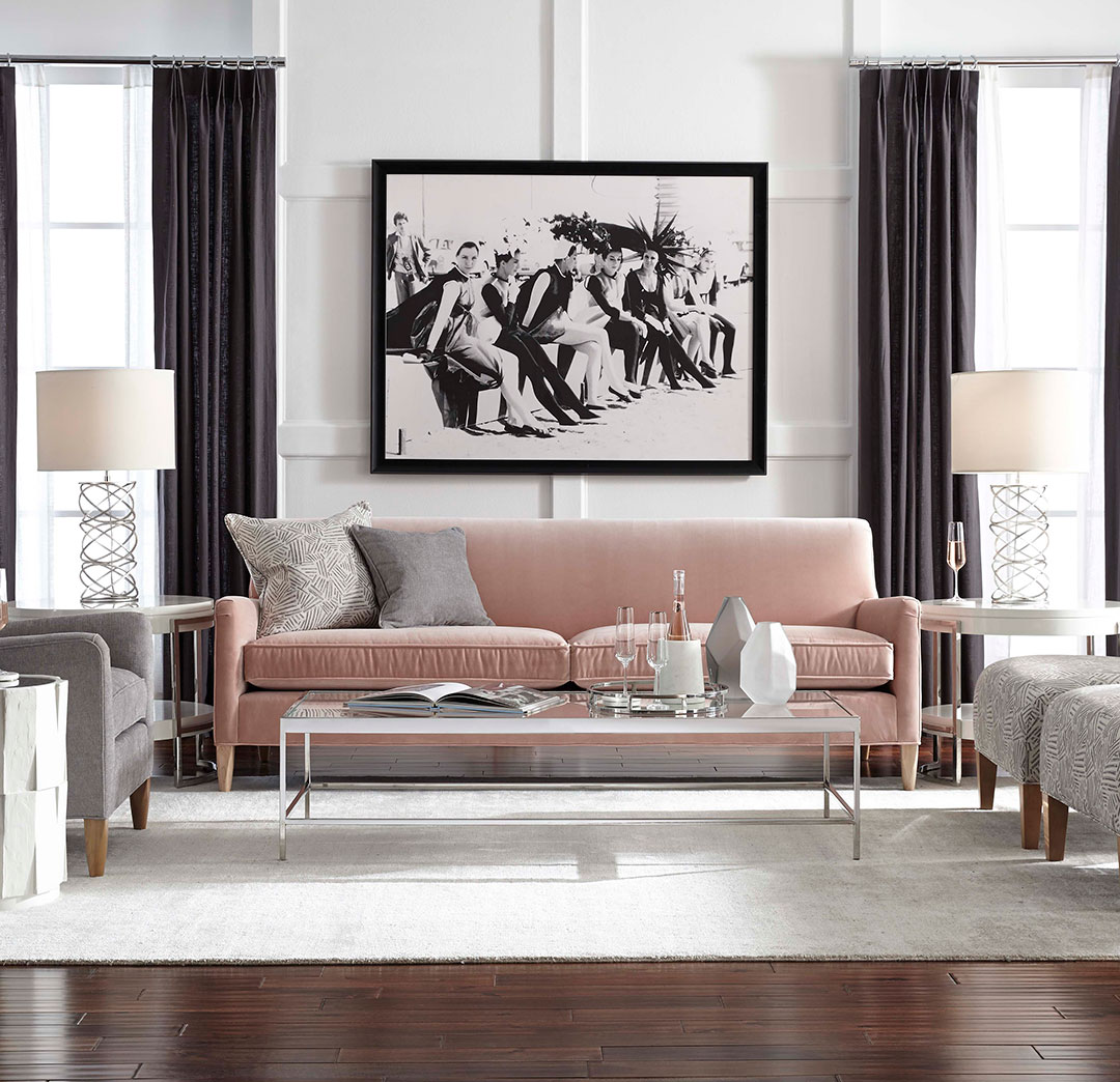 SLOANE SOFA, Performance Micro Velvet - BLUSH, hi-res