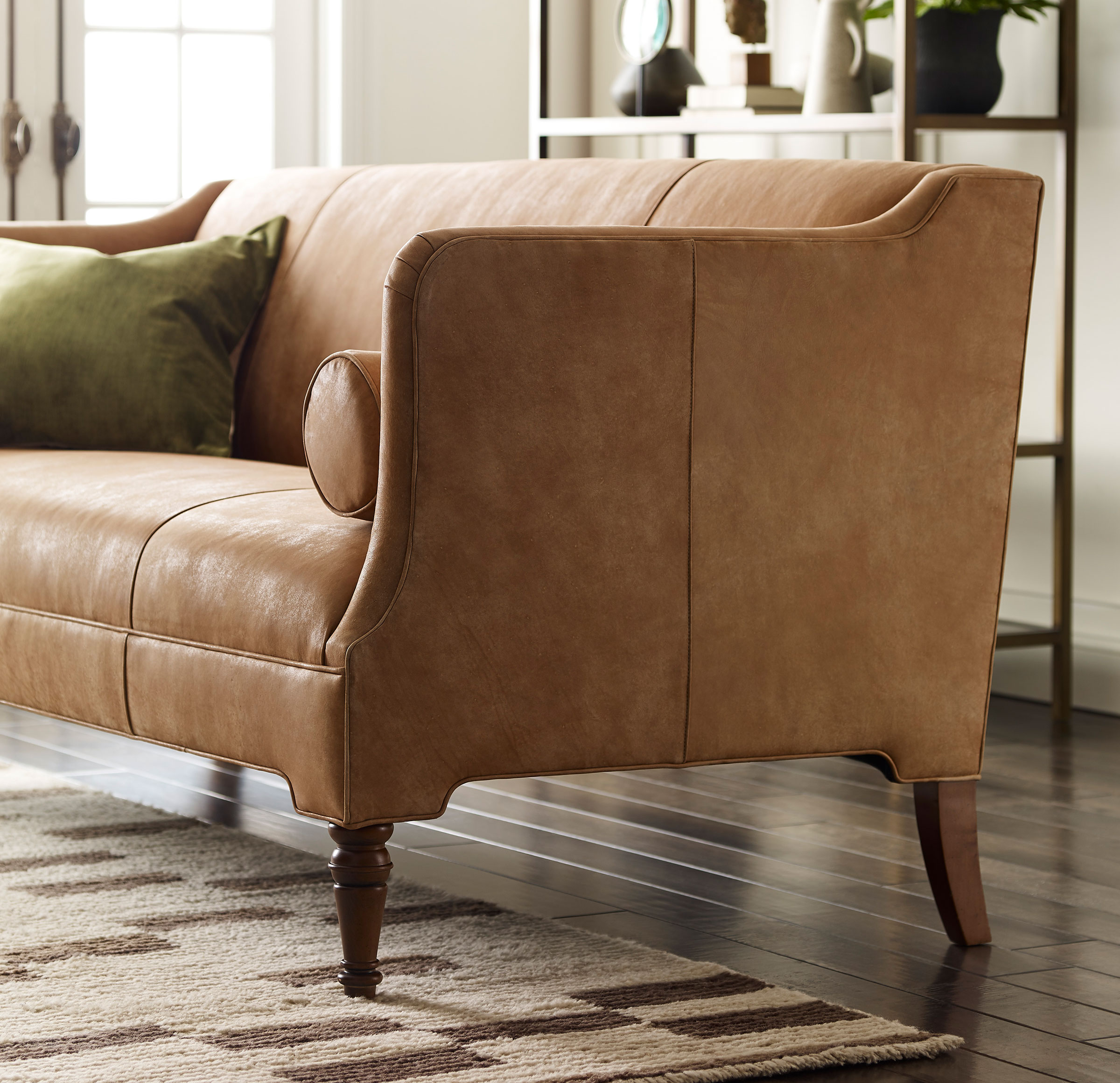 BENNETT LEATHER SOFA, MOAB - DESERT, hi-res