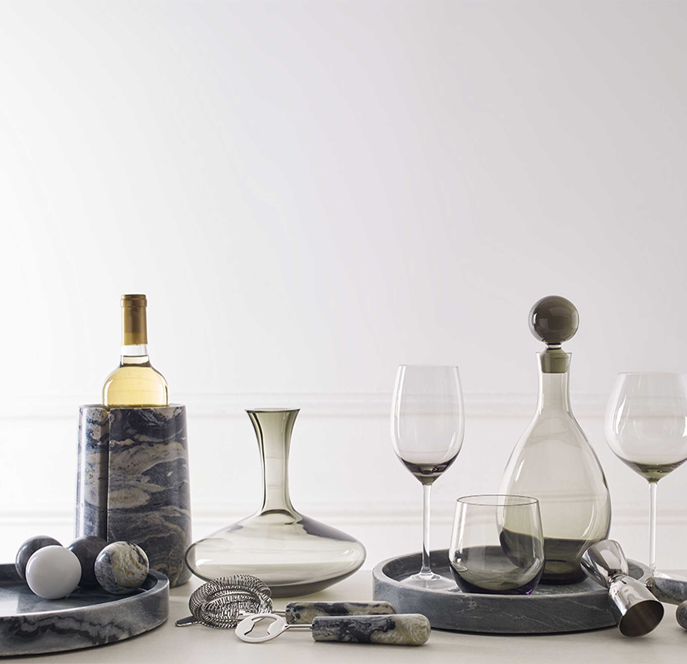 HANDBLOWN WINE DECANTER, , hi-res
