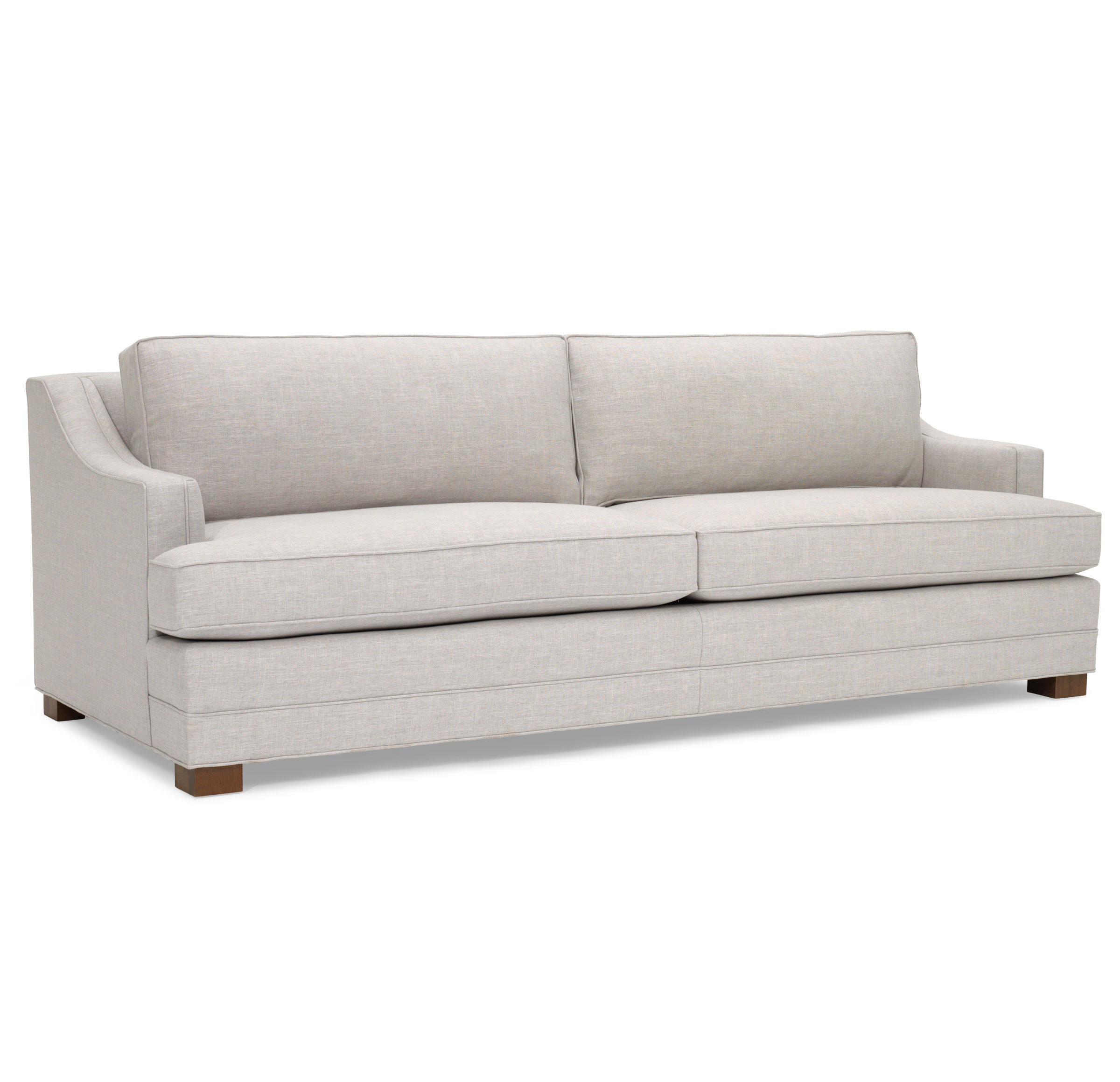 KEATON SLOPE ARM SOFA STUDIO DEPTH, NUANCE - DOVE, hi-res