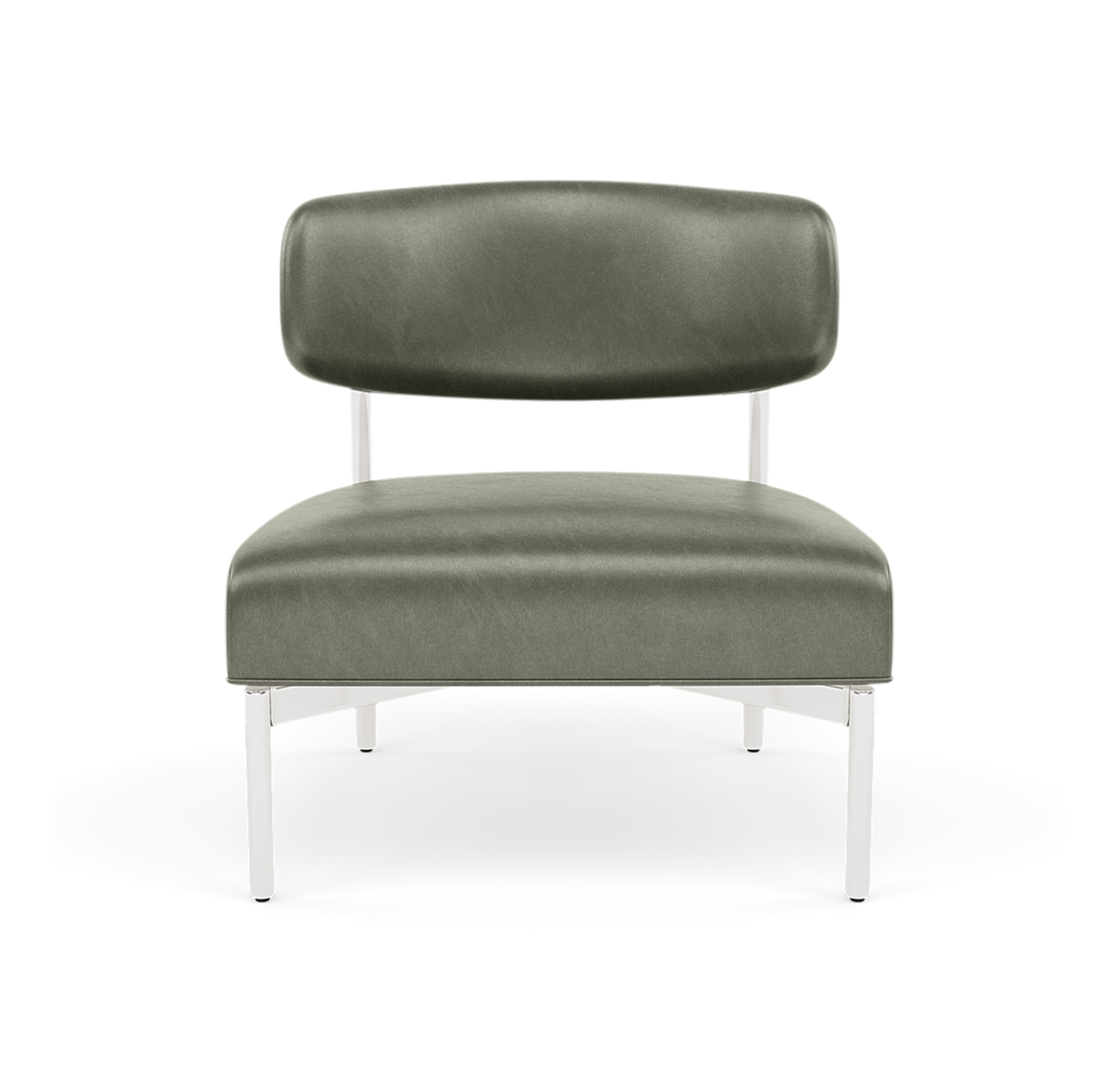 REMY LEATHER CHAIR, MONT BLANC - FERN, hi-res