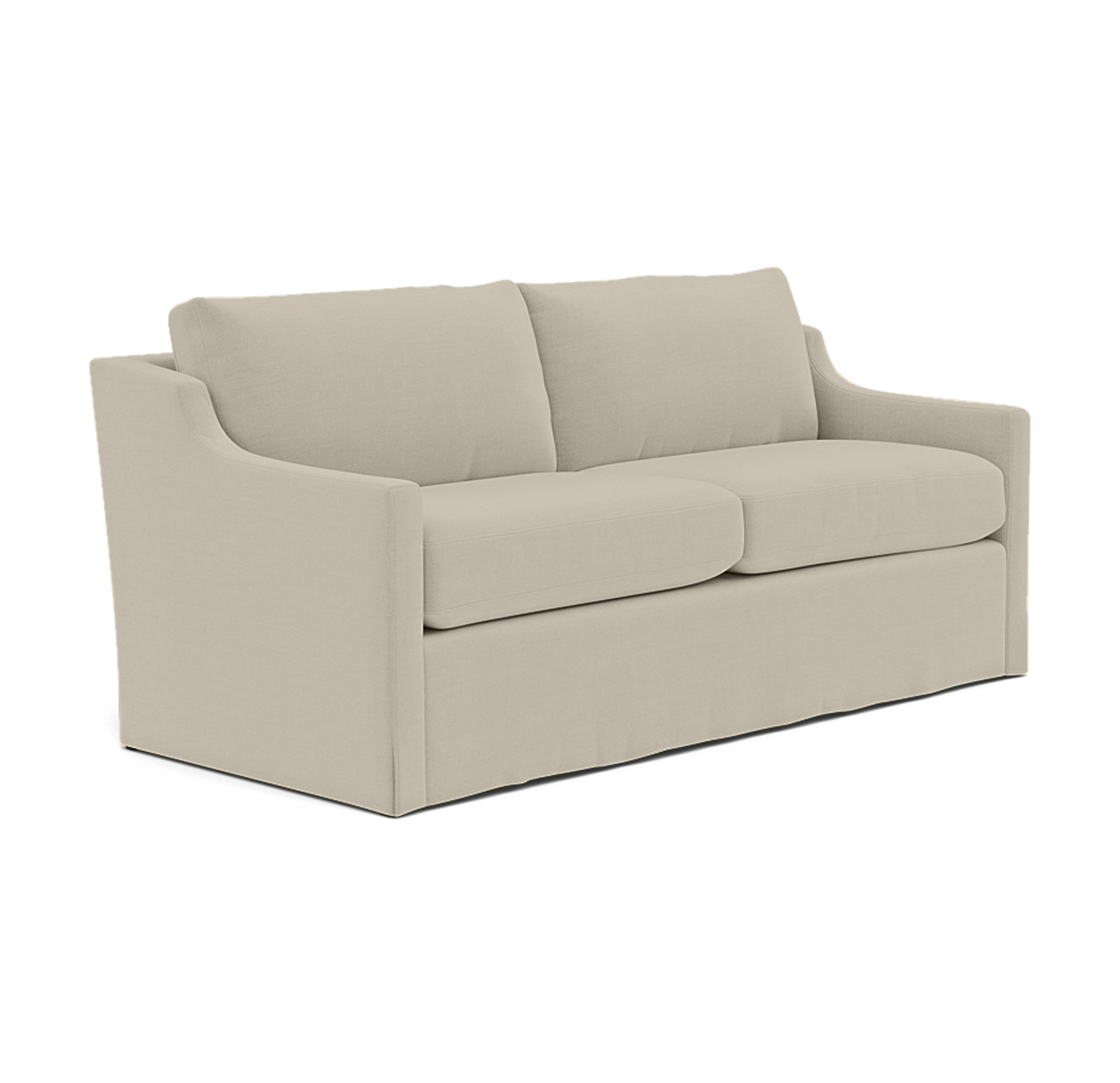 GIGI SLIPCOVER SOFA, PERFORMANCE LINEN - SILVER, hi-res